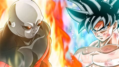 imagenes de goku hit y jiren jiren s power level is high even goku kaioken x20 can t