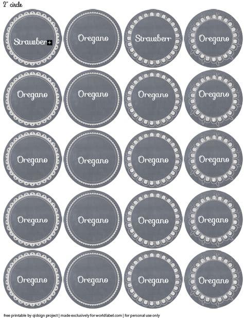 Edible Label Template Doodle Chalkboard Pantry Multipurpose Labels Worldlabel Blog