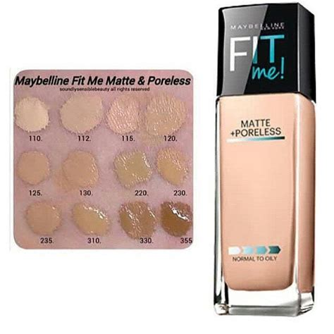 Cushion Maybelline Matte Poreless maybelline fit me matte poreless swatches