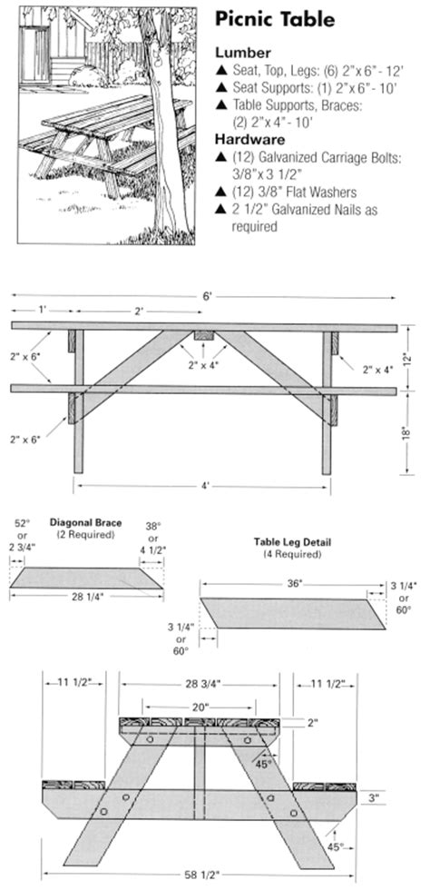 free folding picnic table bench plans pdf picnic table plans pdf