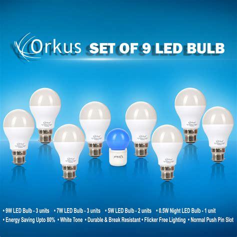 Bohlam Lu Led Emergency Arashi 9 Watt 9w 3 buy set of 9 led bulbs at best price in india on naaptol