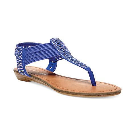 blue sandals madden taahnee sandals in blue lyst