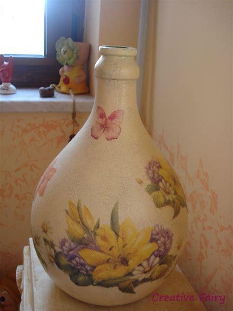 tutorial decoupage su damigiane di vetro damigiana decoupage per la casa e per te decorare casa