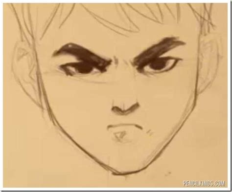 adding expression how to draw eyebrows step by step how to draw an angry face while smiling