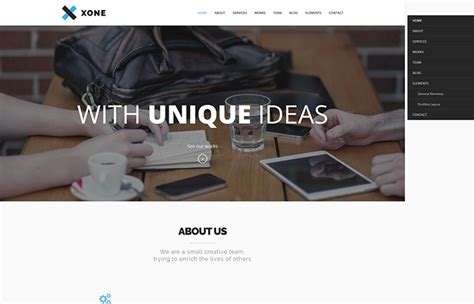 themeforest xone the best one page responsive wordpress themes