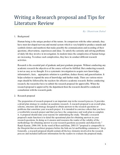 research paper review of related literature research tips for writing literature review
