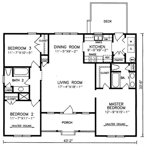 simple open house plans floor plans for a 30x40 one story house studio