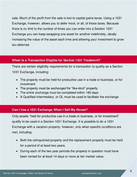 tax code section 1031 section 1031 exchanges what you need to know