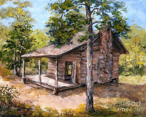 Walker Cabin walker cabin petit jean painting by virginia potter