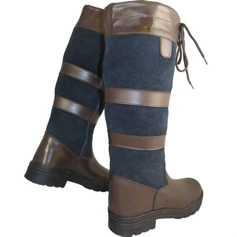 mens leather riding boots for ladies mens long leather water resistant country walking