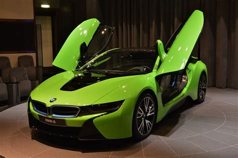 Ever Seen a Lime Green BMW i8 Before?   carscoops.com