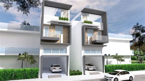 narrow house design front size  youtube
