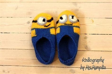 knitted minion slippers felted minion slippers made to order in your size 100