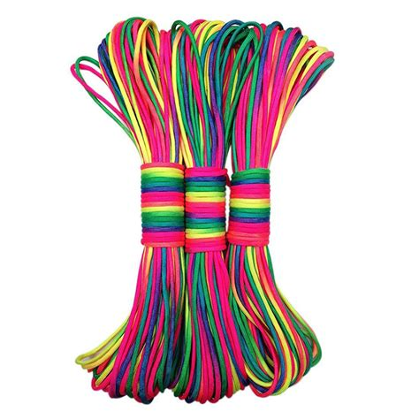 Tali Paracord 7 31 Meter new rainbow 550 paracord parachute cord 31m lanyard rope mil spec type iii 7strand 102ft