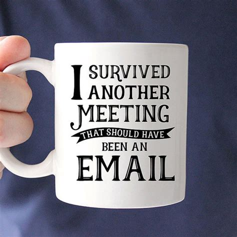 i survived another meeting that was about a meeting blank lined journal 6x9 gift for coworkers books coffee mug i survived another meeting that should been an