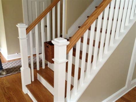 white banister rail staircase railing stunning diy stair banister makeover