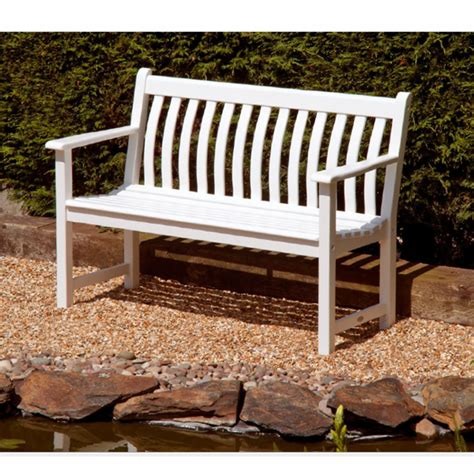 alexander rose broadfield bench alexander rose broadfield 2 seater bench white on sale