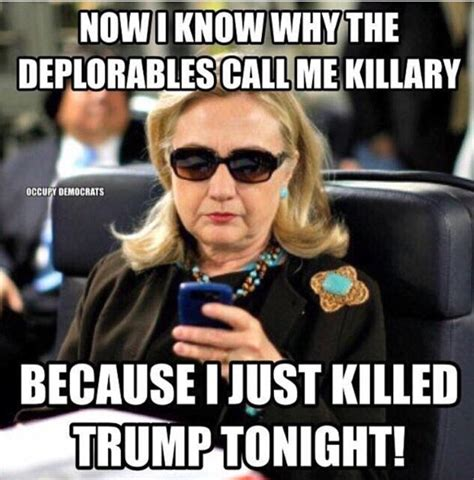 Hillary Clinton Sunglasses Meme - 2016 presidential debate in memes as donald trump is
