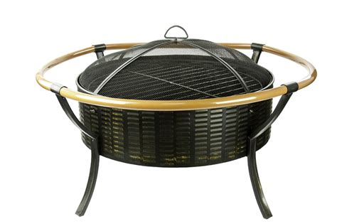mw1327 27 5in round wicker metal classic fire pit