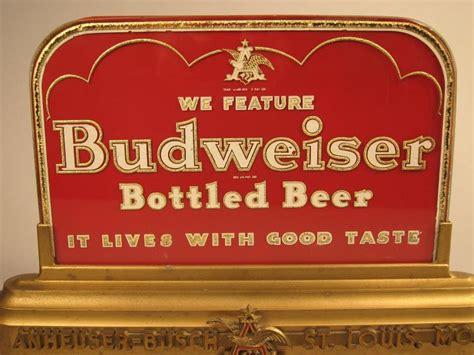 Budweiser L Vintage by Vintage Anheuser Busch Lighted Back Bar Budweiser Sign
