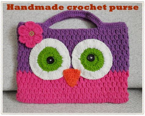 Collection Of Owl Tote Bag Crochet Pattern Free Crochet Owl Purse