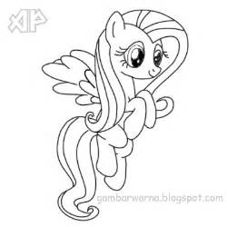 mewarnai my pony belajar mewarnai gambar