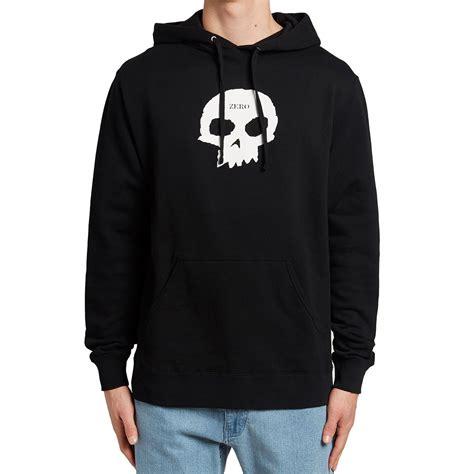 Hoodie Zeroes zero single skull pullover hoodie black