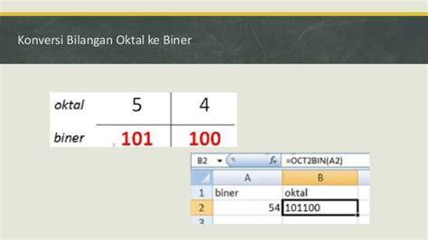 converter biner konversi bilangan desimal biner oktal hexadesimal