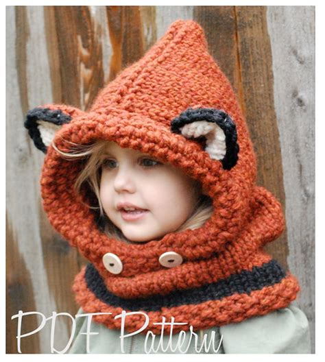 knitted fox hat knitting pattern failynn fox cowl 12 18 months toddler