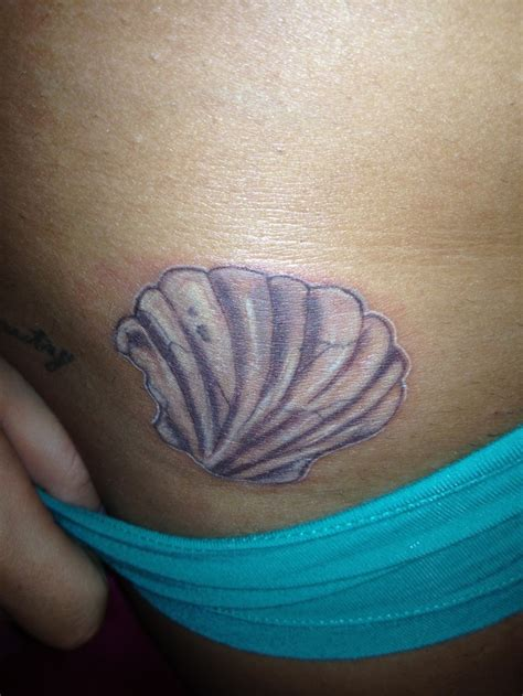 seashell tattoo seashell imperfectionisbeauty