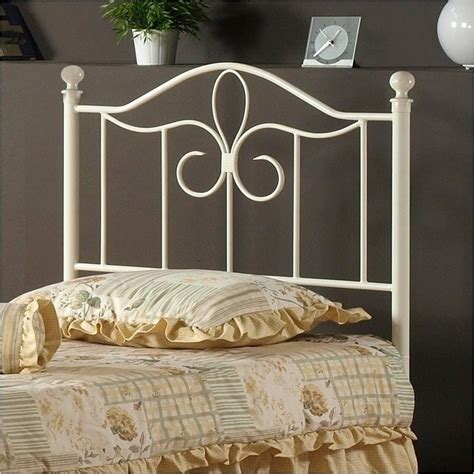 off white headboard hawthorne collections twin metal spindle headboard in off