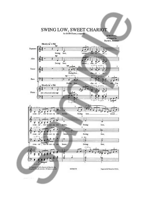 swing low sweet chariot harmonica partition swing low sweet chariot