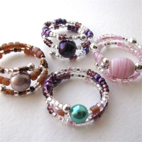 Handmade Beaded Rings - folksy buy quot beaded memory wire rings quot craftjuice