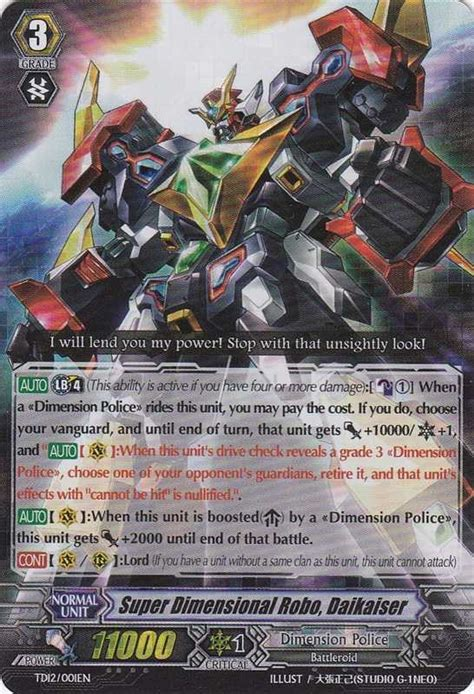 Cardfight Vanguard Singles Dimensional Robo Daihawk dimensional robo daikaiser dimensional brave