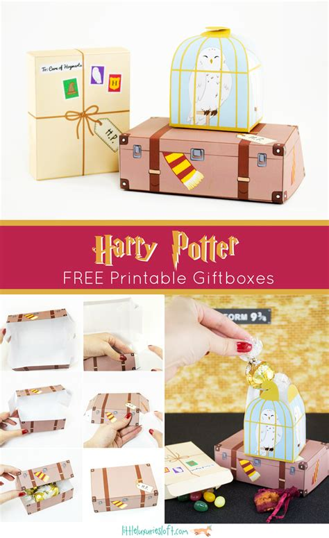 7 harry potter craft ideas printables harry potter inspired printable treat boxes scrap booking