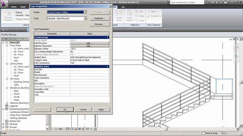 tutorial revit 2010 youtube revit 2010 training part22 stairs railings youtube