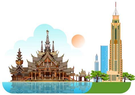 places  visit  thailand   map