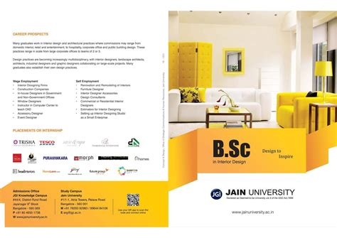 Mba In Interior Designing Distance Learning by 87 Bsc Interior Design Distance Education B Sc