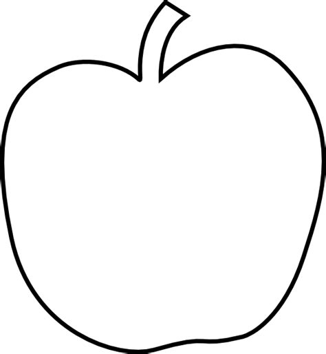 free printable apple template plain white apple clip at clker vector clip