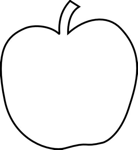 apple templates plain white apple clip at clker vector clip