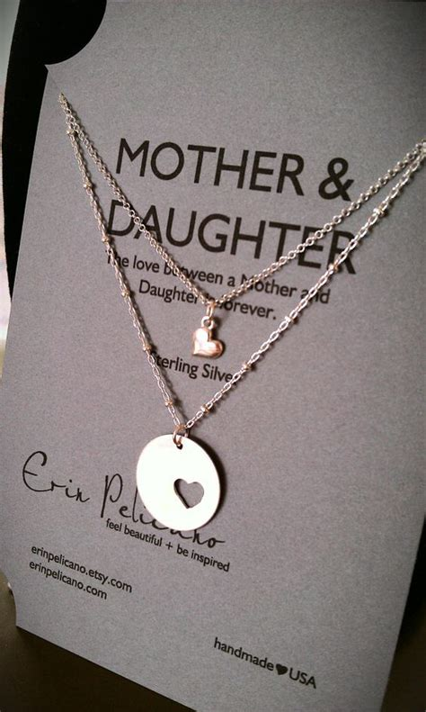 mother daughter necklace set christmas for mom mother of