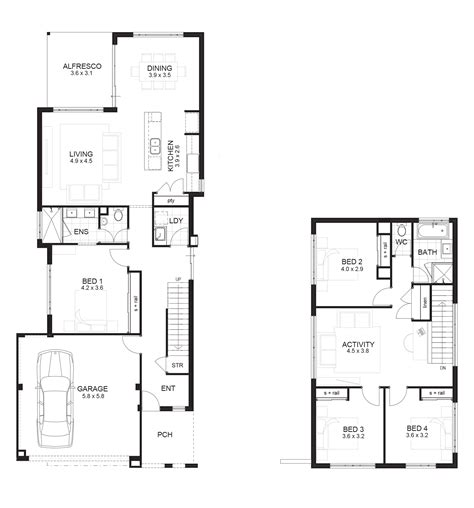 four bedroom double storey house plan small 4 bedroom house plans australia modern house