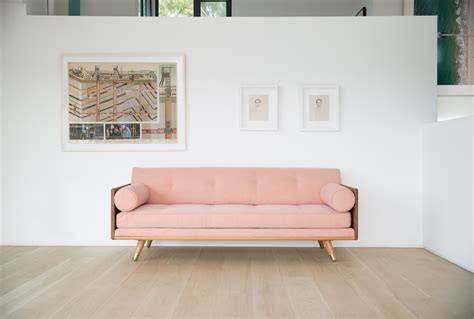 light pink sectional sofa 10 easy pieces the pink sofa remodelista