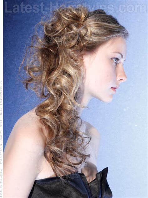 hairstyles cascading curls the prettiest half up half down wedding hairstyles we ve