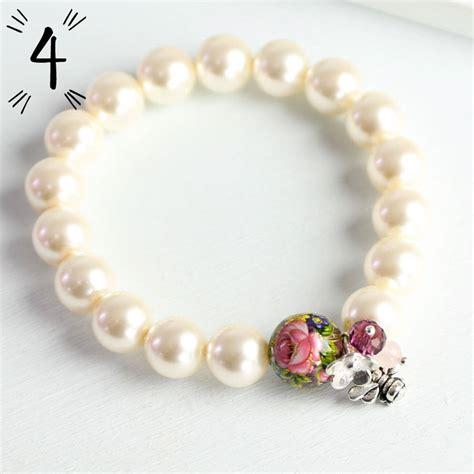 Handmade Pearl Bracelet - handmade pearl charm bracelet by