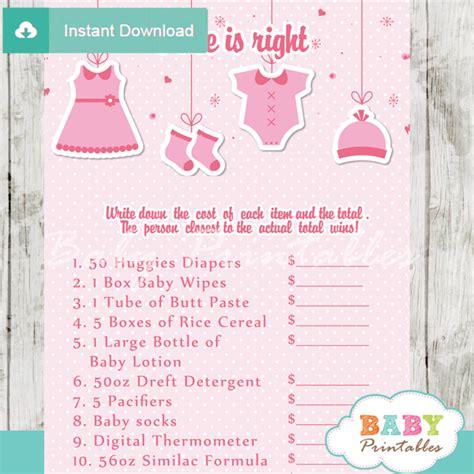 pink clothesline baby shower games bundle d150