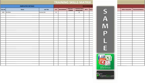skills matrix template skills matrix format