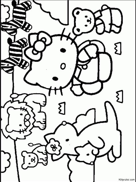 hello kitty beach coloring page 105 best images about coloring pages hello kitty on