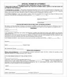 template for power of attorney form power of attorney form free printable 9 free word pdf
