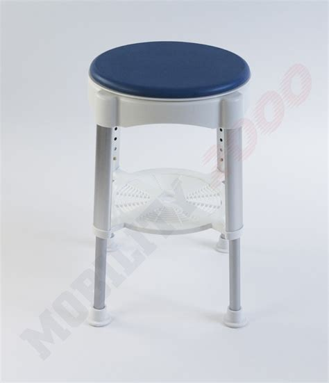 stool bathroom round shower bath stool with padded rotating seat